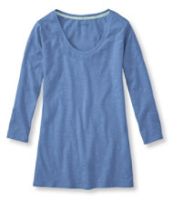West End Fitted Tee, Three-Quarter-Sleeve Scoopneck