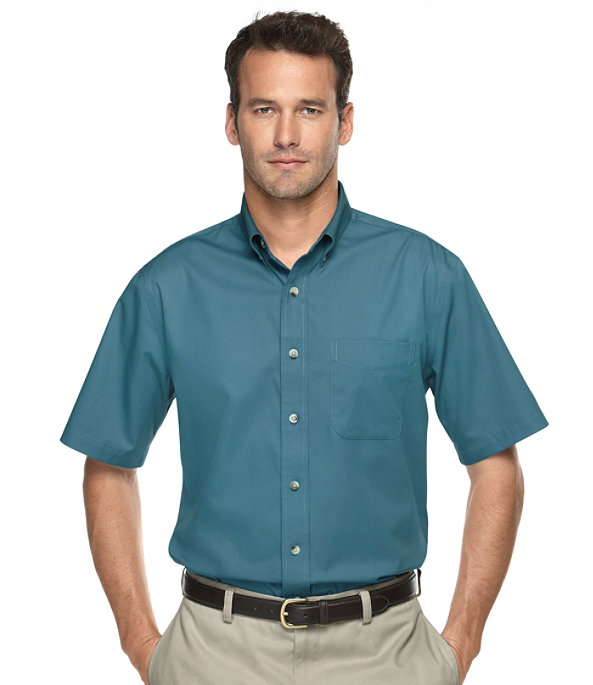 Men's Short-Sleeve Wrinkle-Free Chino Shirt, , largeimage number 1
