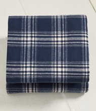Ultrasoft Comfort Flannel Sheet, Flat Windowpane