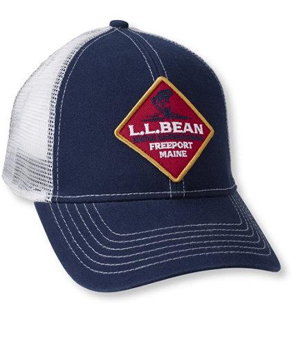 L L Bean Fishing Trucker Hat