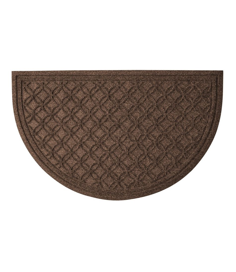 Heavyweight Recycled Waterhog Doormat, Crescent Locked Circles