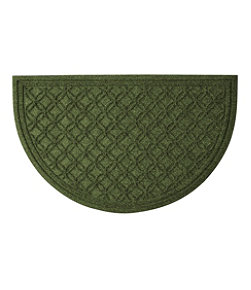 Heavyweight Recycled Waterhog Doormat, Crescent Locked Circles