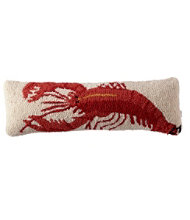 Wool Hooked Throw Pillow, Lobster