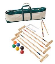 Maine Coast Croquet Set with Boat and Tote