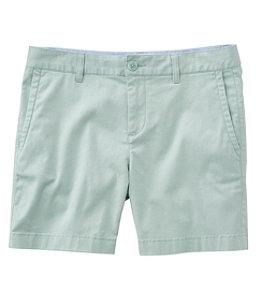 """Women's Washed Chino Shorts, 6"""""""