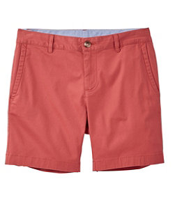 Women's Washed Chino Shorts, 6""