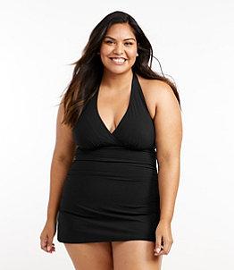 Women's Slimming Swimwear, Clasp Halter Dress