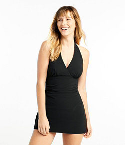Women's Slimming Swimwear, Clasp Halter Dress