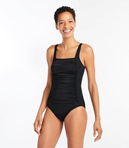 Women's L.L.Bean Mix-and-Match Swimwear, Squareneck Tanksuit