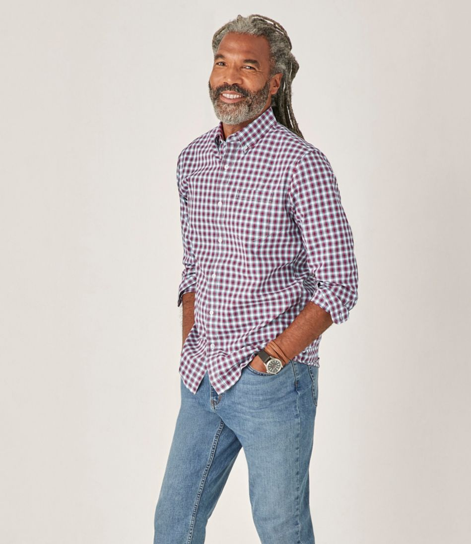 Wrinkle-Free Kennebunk Sport Shirt, Slightly Fitted Check