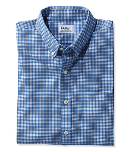 Men 39 s wrinkle free kennebunk sport shirt slightly fitted for Ll bean wrinkle resistant shirts