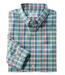 Men's Wrinkle-Free Kennebunk Sport Shirt, Slightly Fitted Check