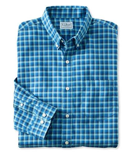 Men 39 s wrinkle free kennebunk sport shirt slim fit check for Ll bean wrinkle resistant shirts