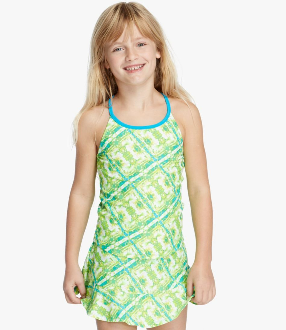 Girls' BeanSport Swimsuit Top, Y-Back Print