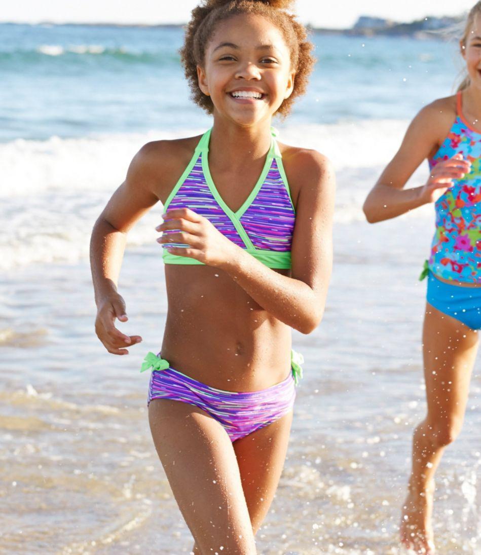 Girls' BeanSport Side-Tie Swimsuit Bottom, Print