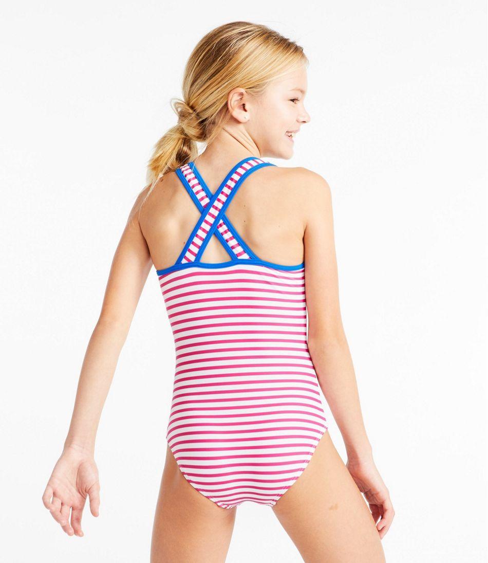 Girls' Tide Surfer Swimsuit, One-Piece Print