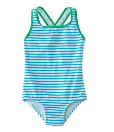 Girls' Tide Surfer Swimsuit, One-Piece Print