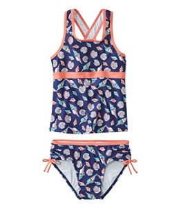 Girls' Tide Surfer Swimsuit, Two-Piece Print