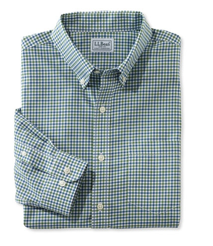 Men 39 s wrinkle free kennebunk sport shirt traditional fit for Ll bean wrinkle resistant shirts
