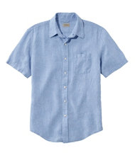 L.L.Bean Linen Shirt, Slightly Fitted Short-Sleeve