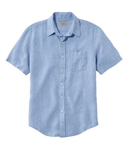 Men's L.L.Bean Linen Shirt, Slightly Fitted Short-Sleeve