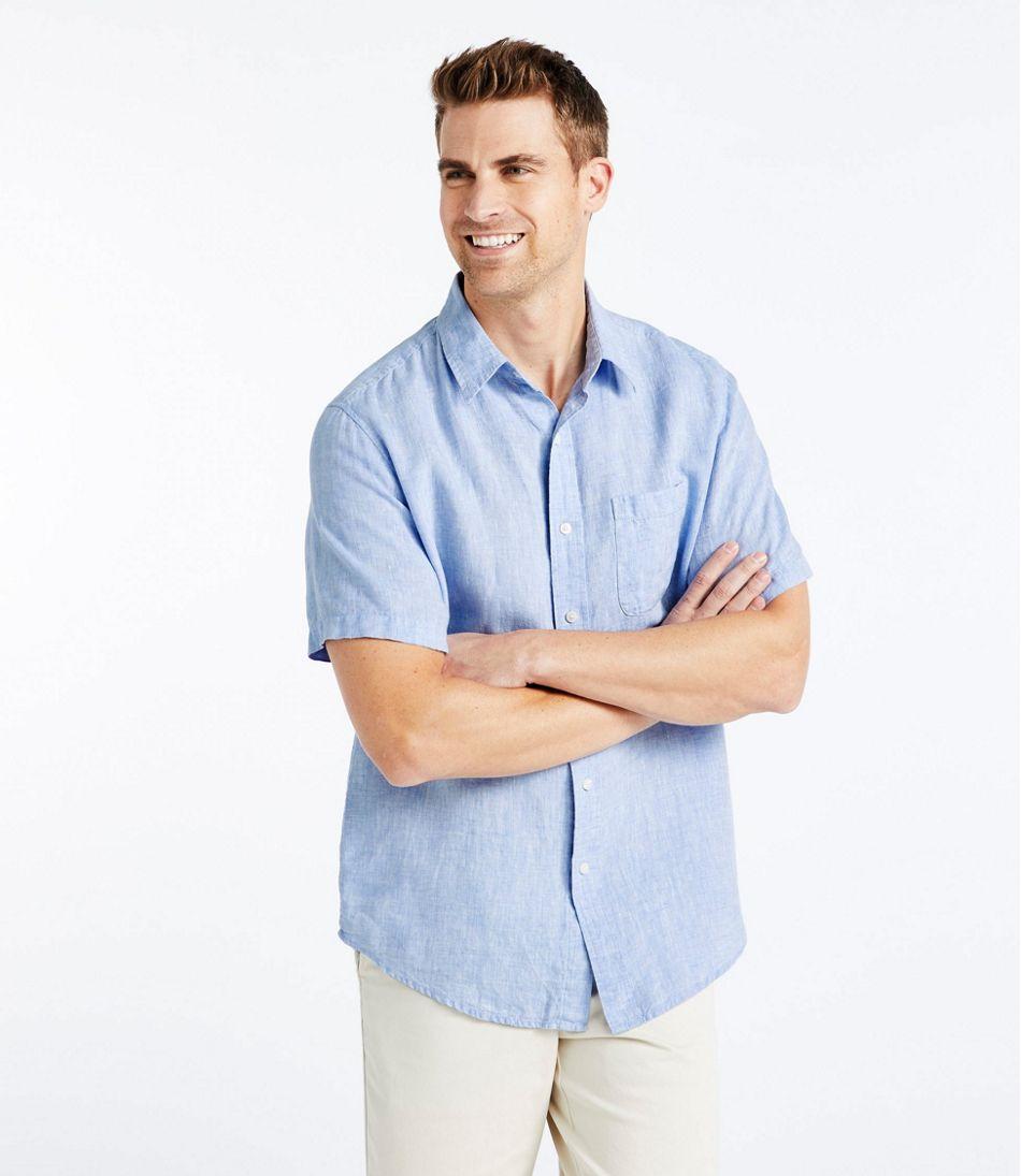 L.L.Bean Linen Shirt, Slightly Fitted Short-Sleeve