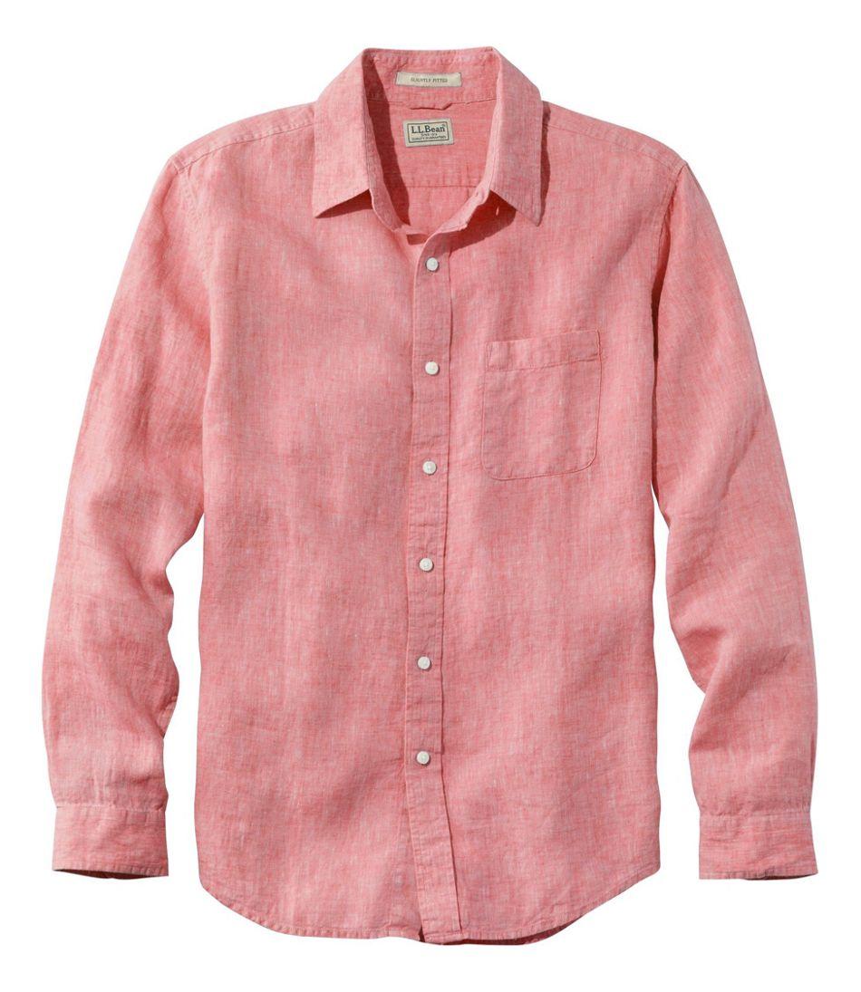 Men's L.L.Bean Linen Shirt, Slightly Fitted Long-Sleeve