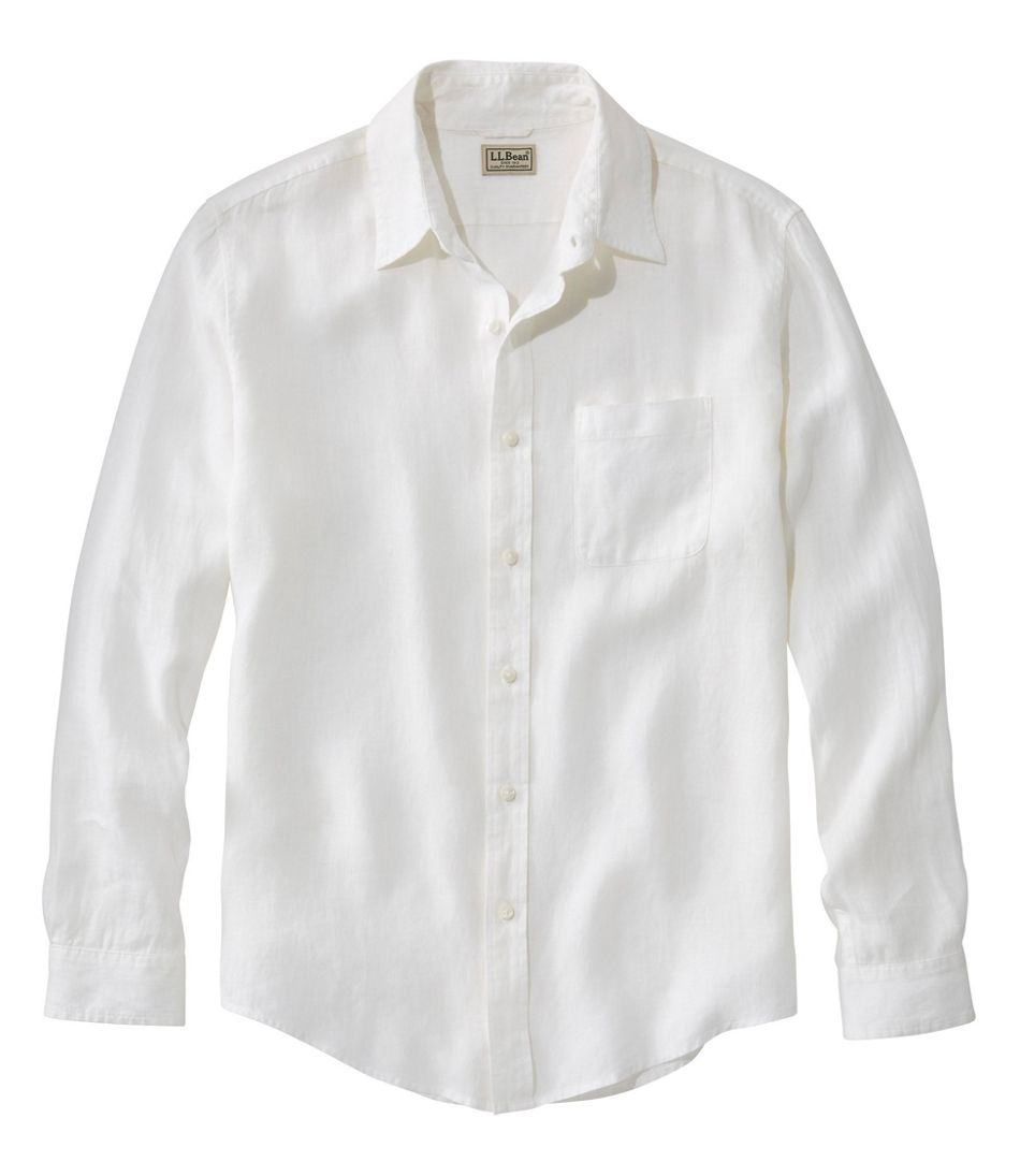 L.L.Bean Linen Shirt, Slightly Fitted Long-Sleeve