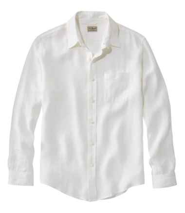 Men's L.L.Bean Linen Shirt, Slightly Fitted Long-Sleeve
