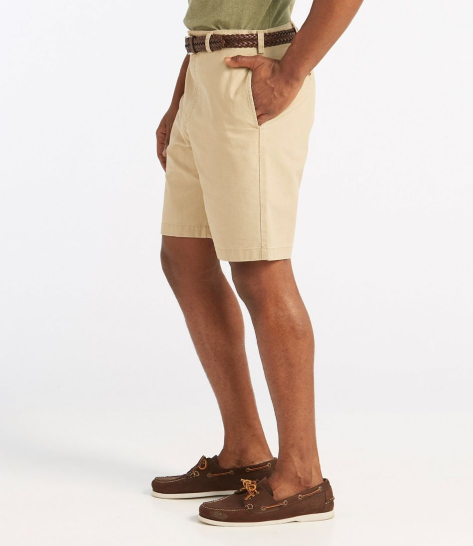 Tropic-Weight Chino Shorts, Natural Fit Plain Front 9""