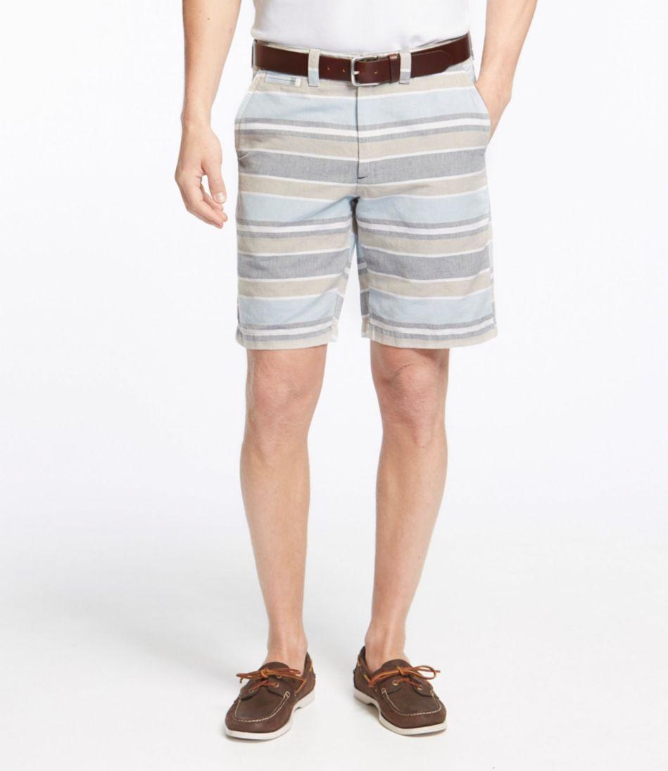 L.L.Bean Summer Shorts, Standard Fit Linen/Cotton Stripe