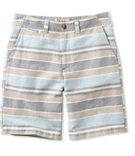 L.L.Bean Summer Shorts, Standard Fit Linen/Cotton Stripe