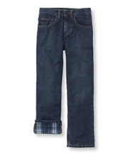 Boys' Double L® Straight Leg Jeans, Flannel-Lined