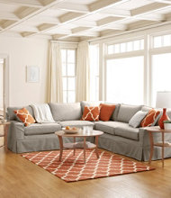 Portland Sectional Sofa and Slipcover