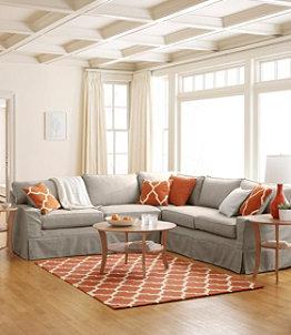 Portland Slipcovered Sectional Sofa