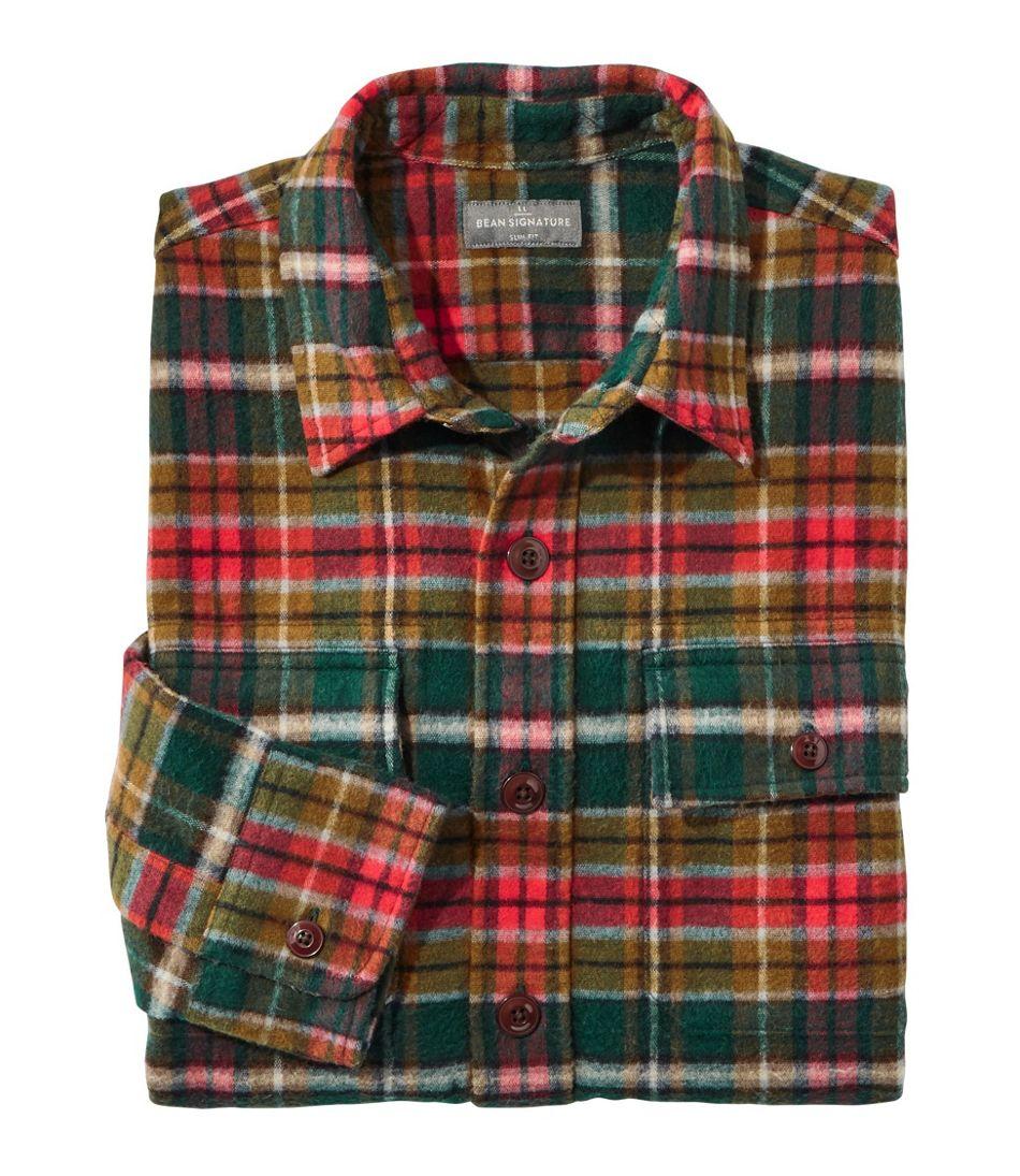 Men's Signature 1933 Chamois Cloth Shirt, Slim Fit, Plaid