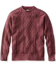 Signature Rollneck Fisherman Sweater, Washed