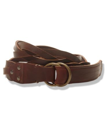 Signature Men's O-Ring Braided Leather Belt