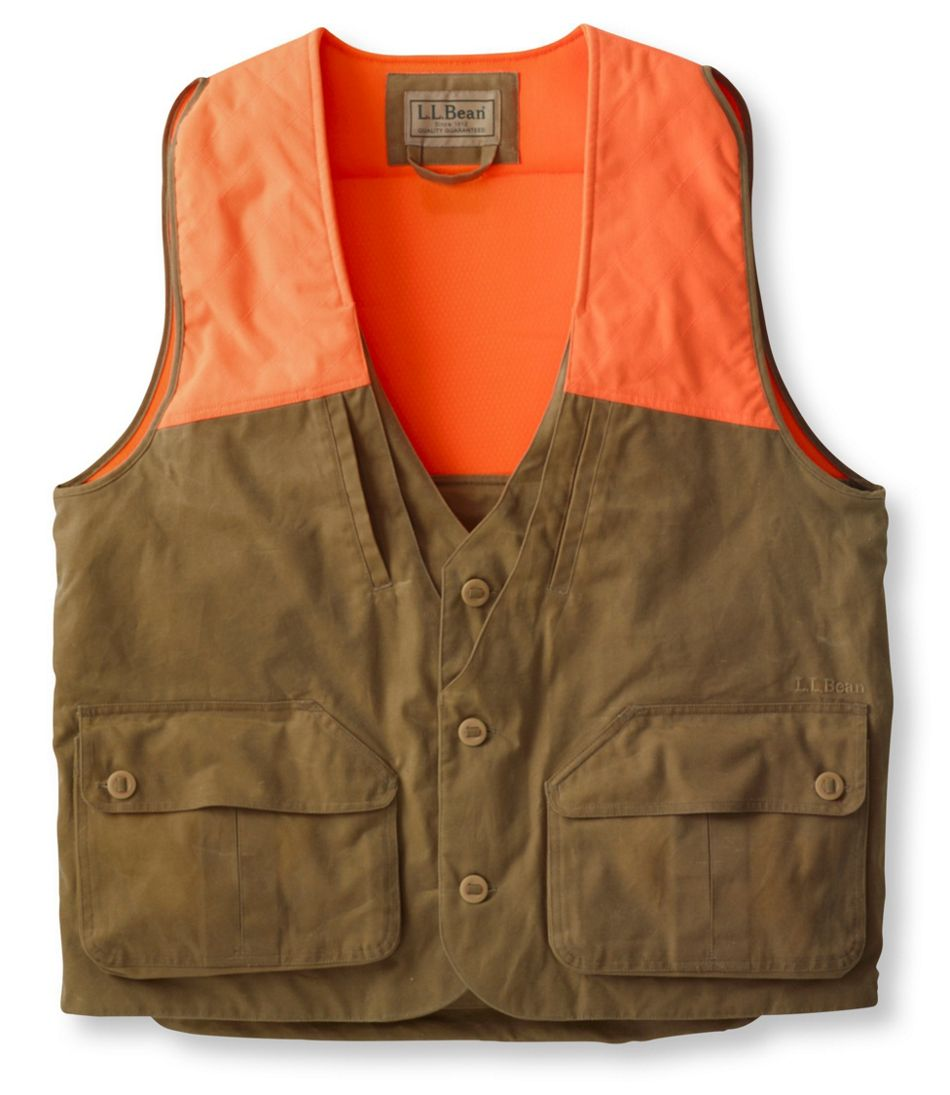 Men's Double L® Upland Hunter's Vest, Waxed Cotton