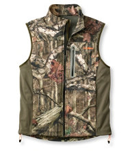 Men's L.L.Bean Big-Game WINDSTOPPER Soft-Shell Vest, Camouflage