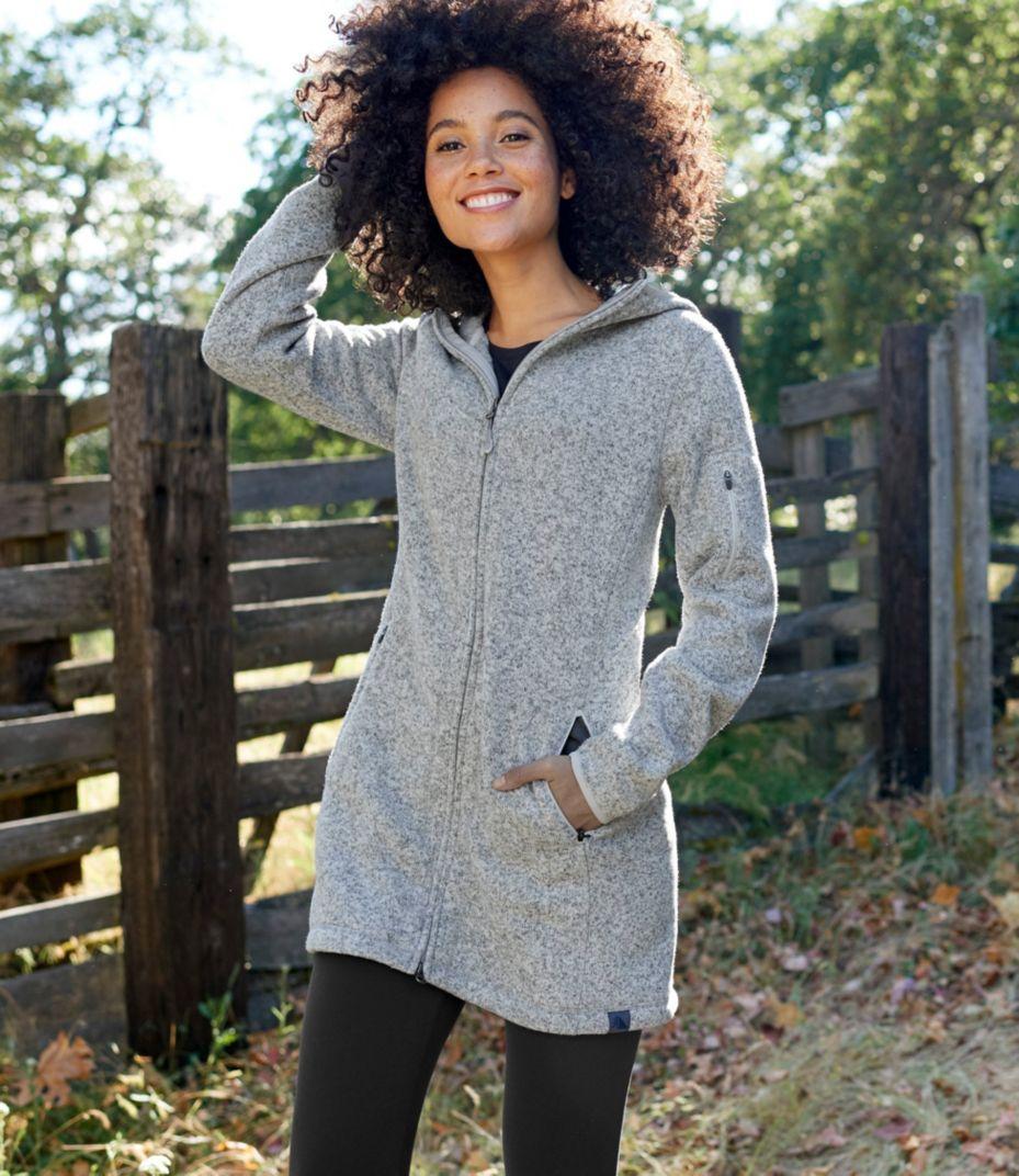 Llbean Sweater Fleece Coat