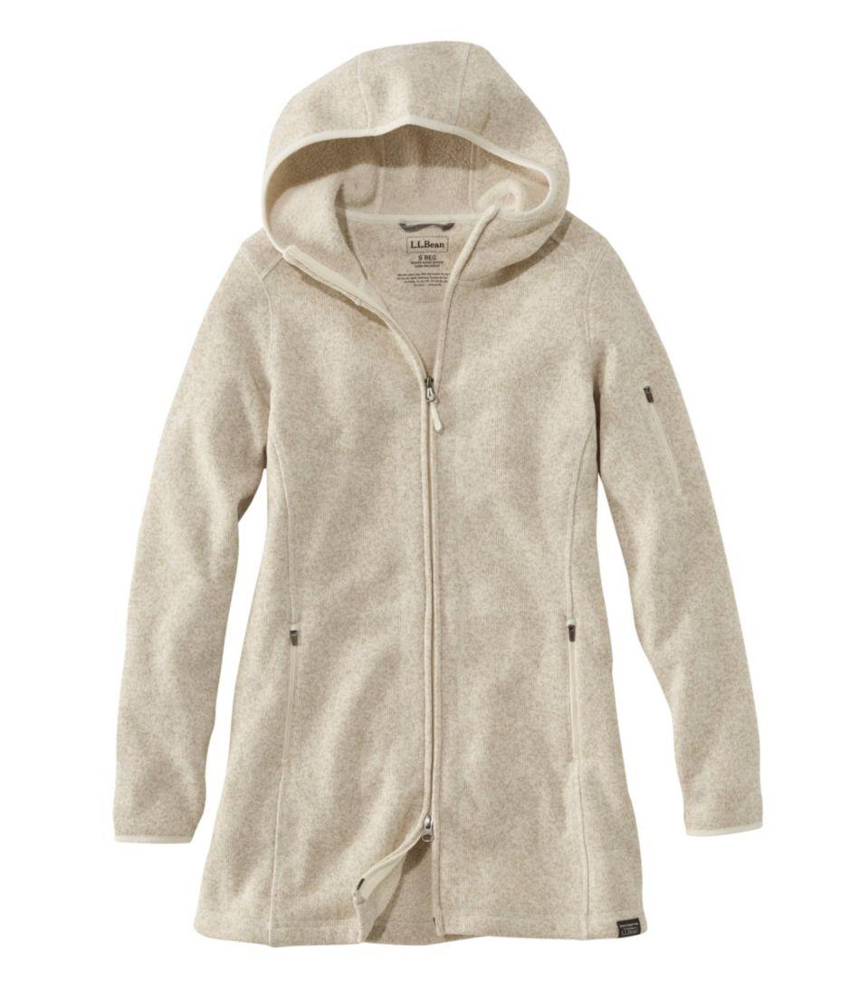 Womens Llbean Sweater Fleece Coat