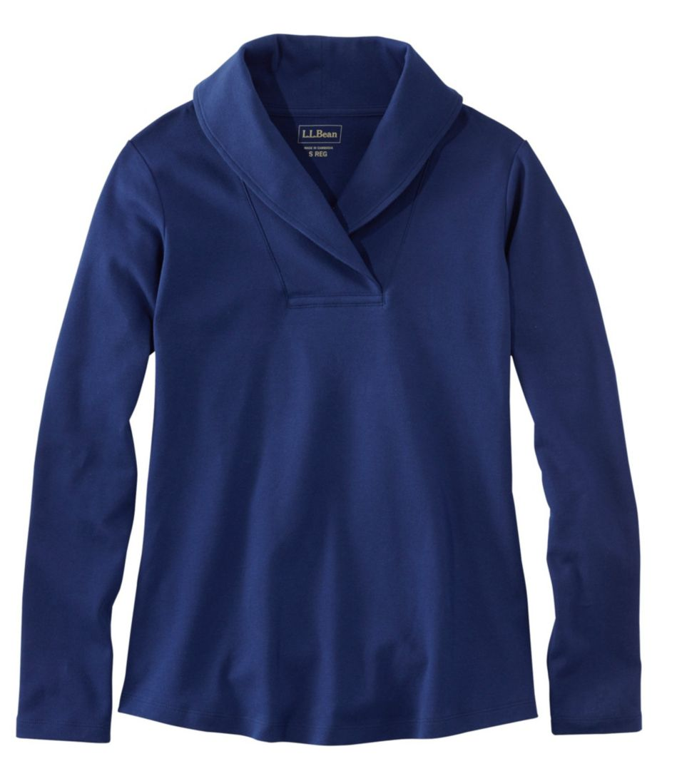 L.L.Bean Pullover, Long-Sleeve Shawl Collar