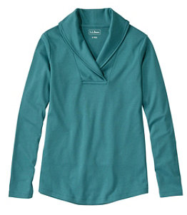 Women's L.L.Bean Pullover, Long-Sleeve Shawl Collar