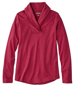 L.L.Bean Pullover, Long-Sleeve Shawl Collar