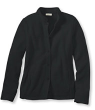 L.L.Bean Comfort Fleece, Button Front Jacket