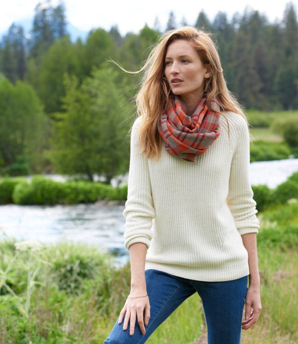 L.L.Bean Shaker-Stitch Crewneck Sweater