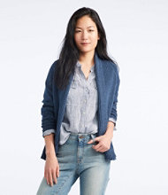 L.L.Bean Shaker-Stitch Open Cardigan