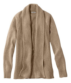 Women's L.L.Bean Shaker-Stitch Open Cardigan