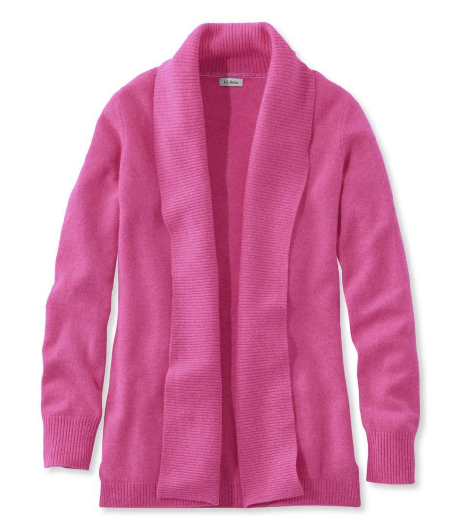 Classic Cashmere Sweater, Open Cardigan